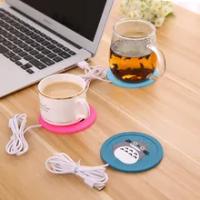เด็กขวดอุ่นอุ่น USB ทารกอุ่นถ้วยการ์ตูนน่ารักซิลิโคนเครื่องทำน้ำอุ่นกาแฟเครื่องดื่มร้อนเค...