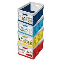 【史努比】摺疊收納箱 4款顏色/紅色/黃色/粉藍色/深藍色 正版授權【買二送二】