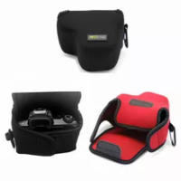 Portable Neoprene Soft Camera Bag Pouch For Canon EOS M5 M50 MarkII M50II M6 M6II M100 M200 Kiss M with 15-45mm Protective cover