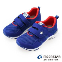 【MOONSTAR 月星】四大機能速乾機能童鞋(MSC22595藍16~19CM)