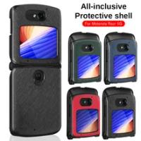 Luxury Leather Case for Motorola Moto Razr 5G Case 6.2inch 2020 Vintage Pattern Razr 2 Razr gen 2 Full Protective Cover Case