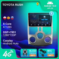 6 + 128G Android 10 Mobil 4G WIFI Radio Navigasi GPS untuk TOYOTA RUSH/ DAIHATSU TERIOS Pemutar Multimedia Radio 2 Din DVD Carplay