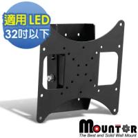 【HE Mountor】MOUNTOR 俯仰可調型壁掛架/電視架-適用37吋以下LED(MF2020)
