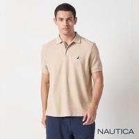 【NAUTICA】男裝 經典款素色短袖POLO衫(卡其)