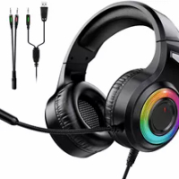 Headset Surround Sound PS4 Gaming Headset Strap and LED Light Headset PC, PS4, PS4, PS4, PS4 , Mac