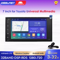 Radio Mobil Android 2DIN untuk Toyota RAV4 Camry Corolla Prado Hilux Highlander Land Cruiser Avanza Rush TERIOS Tundra Stereo Player