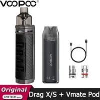 Original VOOPOO ลาก X/ลาก S ชุด4.5Ml ตลับหมึก Fit PnP-VM6 Vm5 Coil และ VMATE Pod ชุด3ML อิเล็กทรอนิกส์บุหรี่ Vaporizer