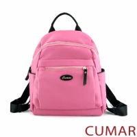 【CUMAR】輕量防潑水尼龍後背包(粉紅色)