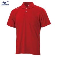 男款短袖POLO衫 32TA002062(紅)【美津濃MIZUNO】
