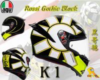 ~任我行騎士部品~AGV K1 GOTHIC 46 亞洲版日規 單鏡片 全罩 安全帽 #黑哥德