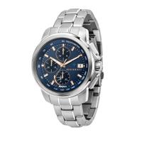 刷卡滿3千回饋5%點數|MASERATI 瑪莎拉蒂 SUCCESSO 光動能三眼計時腕錶44mm(R8873645004)