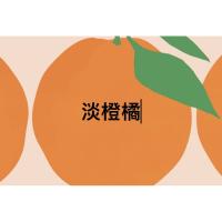 萊潔。 淡橙橘10入