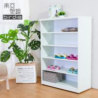 【南亞塑鋼】2.2尺開放式五格收納櫃/置物櫃/鞋櫃(白色)