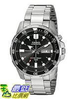 [107美國直購] 手錶 Casio Mens MTD-1079D-1AVCF Super Illuminator Diver Analog Display Quartz Silver Watch