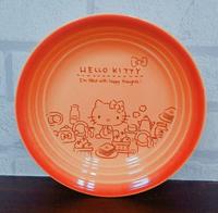 大賀屋 日貨 HELLO KITTY 盤子 陶盤 碟子 器皿 陶瓷 和風 大盤 大碟子 陶瓷碟 正版 L00011273
