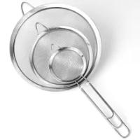 Stainless Steel Colanders Flour Sieve Vegetable Bean Pasta Strainers Cooking Drainer Dessert Bread Baking Tools Kitchen Utensil