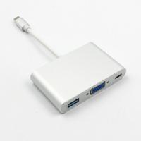 【生活家購物網】Type-C轉VGA + USB3.0口 多功能轉換器 USB 擴充 FHD 1080P影音輸出 支持OTG 充電