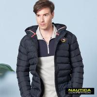 【NAUTICA】保暖防寒科技羽絨連帽外套(黑色)
