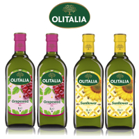 (老爹特惠)【奧利塔olitalia】葡萄籽油2瓶+葵花油2瓶(1000mlx4瓶-禮盒組)