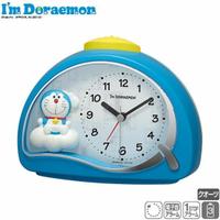 小禮堂 哆啦A夢 半圓型鬧鐘《藍.雲朵上》時鐘.桌鐘