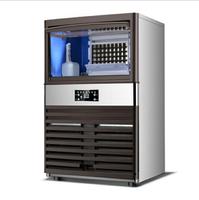 訂製110V製冰機全自動商用制冰機家用小型奶茶店酒吧臺式桶裝水方冰塊機臺灣專用(GK120主圖款)