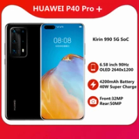 Original HUAWEI P40 Pro + Plus 5G Kirin 990สมาร์ทโฟน6.58 ''90Hz OLED Scrren 4200MAh แบตเตอรี่40W Super Charger หลัก50MP NFC