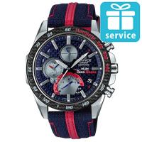 【CASIO 卡西歐】EDIFICE Scuderia Toro Rosso 輕薄藍寶石鏡面藍牙太陽能賽車錶-藍(EQB-1000TR-2A)