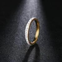 DOTIFI 316Lแหวนสแตนเลสผู้หญิงทองแหวนหมั้นคริสตัลแหวนเครื่องประดับ