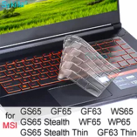 Keyboard Cover for MSI GS65 Stealth GF65 GF63 Thin WF65 WS65 WP65 15 15.6 14 Silicon Protector Skin Case Gaming Laptop Accessory