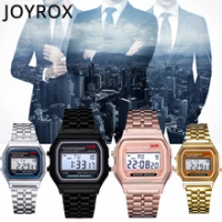 JOYROX 2020นาฬิกาผู้ชายLuxury Roseนาฬิกาทองผู้หญิงผู้ชายธุรกิจนาฬิกามัลติฟังก์ชั่กีฬาLEDดิจิตอลผู้ชาย...