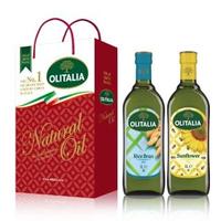 【Olitalia 奧利塔】玄米油+葵花油禮盒組(1000mlx2瓶)