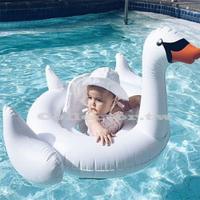 ✤宜家✤兒童泳圈-小白天鵝游泳圈 卡通造型泳圈 夏季泳圈救生圈