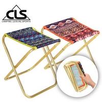 【韓國CLS】民族風特殊收納鋁合金折疊椅/行軍椅/板凳/登山/露營(兩色任選)