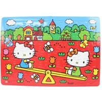 Hello Kitty凱蒂貓拼圖 80片拼圖 玩翹翹板/一個入(促100) 世一C678021 KT幼兒卡通拼圖 MIT製正版授權
