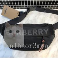 【Amia二手】BURBERRY 黑色尼龍 LOGO 腰包 / 背包