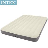 【INTEX】新型氣柱-雙人植絨充氣床墊