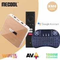 Mecool TVbox KM6 Deluxe Edition With ATV Amlogic S905X4 Android 10 WiFi6 2.4G/5G 1000M Ethernet Port 4G 64GB For Netflix Youtube