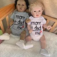 56 Cm Asli NPK Full Body Silikon Reborn Boneka Bayi dengan Gigi Dua Warna Kulit Manusia Hidup 100% Hand Made Terbaru lukisan Boneka