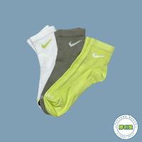 【滿額↘現折$200】【NIKE】NIKE LIGHTWEIGHT QUARTER SOCKS CREW 襪子 中筒襪 白綠 螢光綠 墨綠 小LOGO 基本款 三色一組 男女尺寸 SX6893-907【勝利屋】