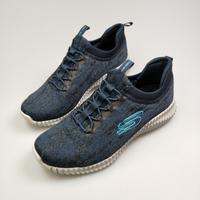 Skechers斯凱奇 經典男鞋 時尚 橡筋 一腳蹬 花紗針織鞋面 緩震EVA鞋底 柔韌緩震52642