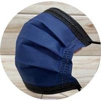 【MIT】翔緯醫用口罩 -歐妮/撞色藍黑款☆雙鋼印☆--成人醫療口罩50入盒裝(7-11/全家取貨滿499元免運)