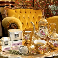 【samova 歐洲時尚茶飲】有機檸檬馬鞭草茶/無咖啡因/單一成分/Speak French 法語情調(Tea Tin Mini系列)