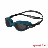 【SPEEDO】成人運動泳鏡 Vue(黑/北歐藍)
