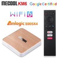 10pcs Mecool KM6 Deluxe ATV Amlogic S905X4 Smart Android 10.0 TV Box 4GB RAM 64GB ROM 2.4/5G WiFi BT 4K Android 10 Set top Box