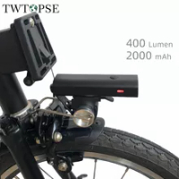 TWTOPSE 400 Lumen Bike Bicycle Lights With Rack Holder For Brompton 3SIXTY PIKES Dahon Tern Crius Folding Bicycle V Brake Lights