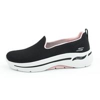 SKECHERS GO WALK ARCH FIT 健走鞋 寬楦 足弓鞋墊 黑粉色 女生尺寸【124401BKPK】