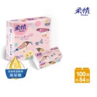【柔情】抽取式衛生紙100抽x12包x7袋/箱 - 童心森林版(玻尿酸添加)