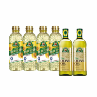 【得意的一天】100% pure 葵花/橄欖油6罐組(100%純葵花油1L*4瓶+100%義大利橄欖油1L*2瓶)