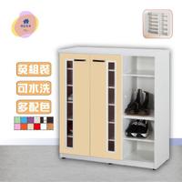 【·Fly·飛迅家俱】4尺雙門半開放塑鋼鞋櫃(活動式隔板)