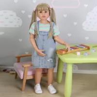 39นิ้ว Reborn ทารกตุ๊กตา Handmade ขนาดจริงสาวตุ๊กตาเด็กสาวตุ๊กตาซิลิโคนเด็กผู้ใหญ่มาพร้อมกับ